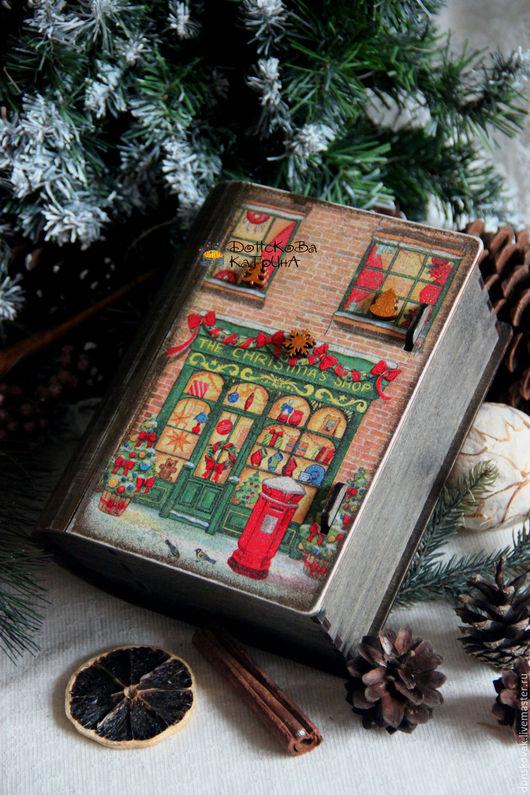 """Новый год 2017 ручной работы. Ярмарка Мастеров - ручная работа. Купить """"Рождественская сказка"""" (старый короб-книга). Handmade."""