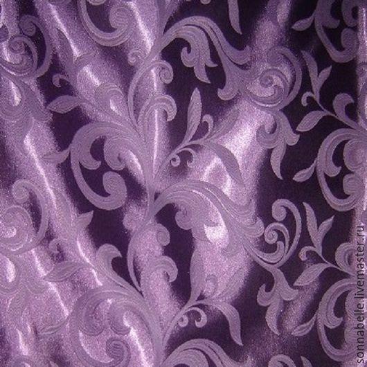 Шитье ручной работы. Ярмарка Мастеров - ручная работа. Купить Ткань для штор Жаккард Веточки Фиолетовый. Handmade. Комбинированный, шторы