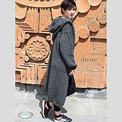 Одежда handmade. Livemaster - original item Long women cardigan with hood. Handmade.