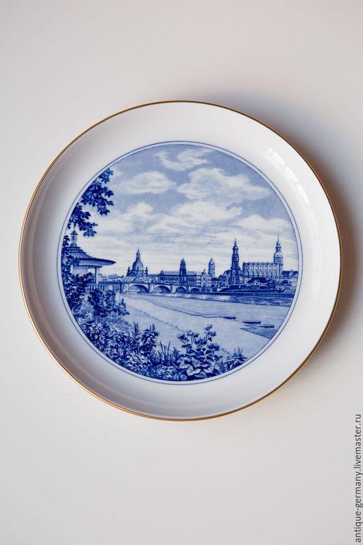 Декоративная посуда ручной работы. Ярмарка Мастеров - ручная работа. Купить Декоративная тарелка на стену Meissen. Handmade. фарфоровая тарелка