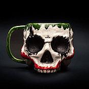 Посуда handmade. Livemaster - original item Handmade mug without acrylic-Joker (Joker Skull Ceramic Mug). Handmade.