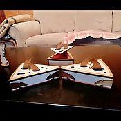 Год Крысы 2020 ручной работы. Ярмарка Мастеров - ручная работа Новогодняя подарочная шкатулка- сыр. В нее можно положить подарок. Handmade.