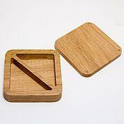 Материалы для творчества handmade. Livemaster - original item square wooden box on the magnets as jewelry. Handmade.