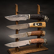 Сувениры и подарки handmade. Livemaster - original item Stand for 5 knives from solid oak. Handmade.