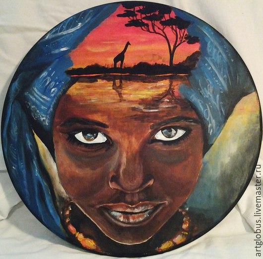 Мебель ручной работы. Ярмарка Мастеров - ручная работа. Купить африка. Handmade. Разноцветный, африканский стиль, табурет, триптих, на заказ