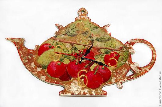 """Часы для дома ручной работы. Ярмарка Мастеров - ручная работа. Купить Часы """"Чайничек"""". Handmade. Часы интерьерные, часы для дома"""
