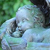 Для дома и интерьера handmade. Livemaster - original item Statuette of a Sleeping angel made of concrete for garden decor Provence. Handmade.