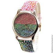 Украшения ручной работы. Ярмарка Мастеров - ручная работа Дизайнерские наручные часы GreenRose. Handmade.