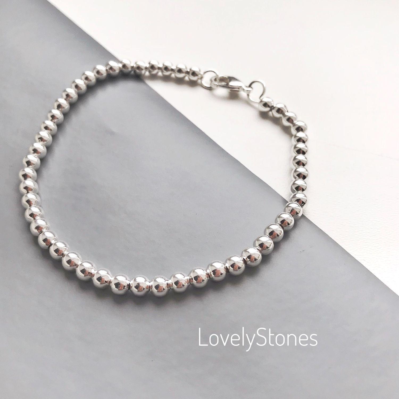 Bracelet Track with small metal beads on chain, Bead bracelet, Yaroslavl,  Фото №1