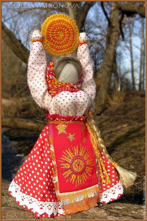 Народные куклы ручной работы. Ярмарка Мастеров - ручная работа. Купить Масленица-Ясочка. Handmade. Ярко-красный, традиционная кукла