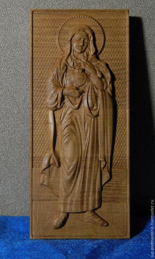 Иконы ручной работы. Ярмарка Мастеров - ручная работа. Купить Святая Мария Икона. Handmade. Мария, дерево, религия