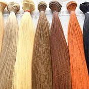 Материалы для творчества handmade. Livemaster - original item Hair/ hair pieces for dolls 25 cm, straight. Handmade.