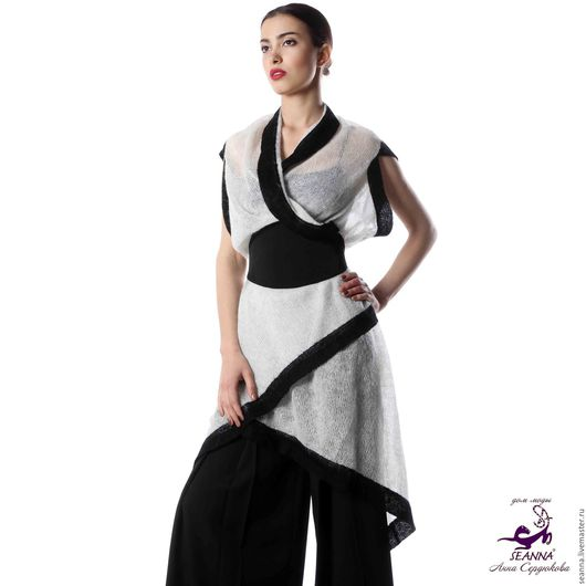 """Пояса, ремни ручной работы. Ярмарка Мастеров - ручная работа. Купить Пояс безразмерный """"Подо все"""" из черной костюмной ткани в японском сти. Handmade."""