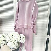 Одежда ручной работы. Ярмарка Мастеров - ручная работа Нежный костюм в трендовом цвете Ballet Slipper. Handmade.