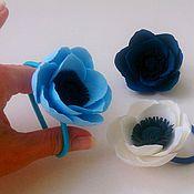 """Украшения ручной работы. Ярмарка Мастеров - ручная работа """"Небесно-голубой"""" - заколки для волос. Handmade."""