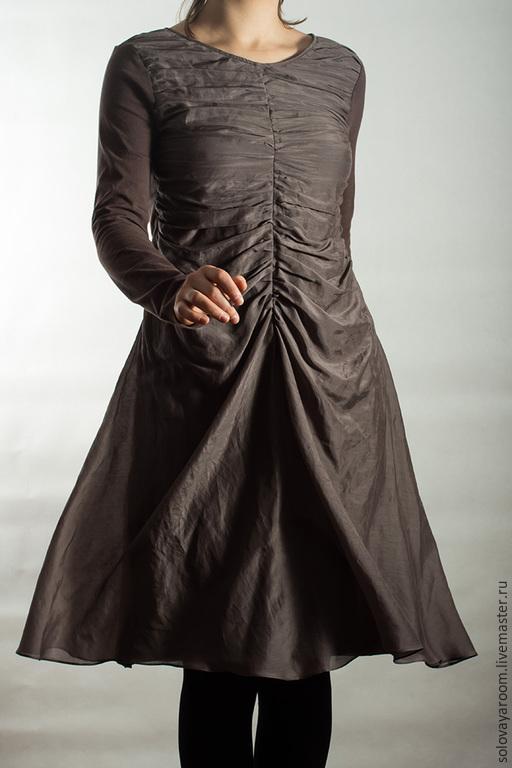 Платья ручной работы. Ярмарка Мастеров - ручная работа. Купить Платье из трикотажа и батиста. Handmade. Одежда ручной работы