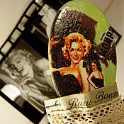 Аксессуары ручной работы. Ярмарка Мастеров - ручная работа «Джентльмены предпочитают блондинок» расчёска и чехол. Handmade.