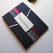 """Свадебный салон ручной работы. Ярмарка Мастеров - ручная работа Приглашение """"Бурлеск"""". Handmade."""