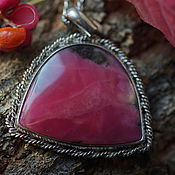 Украшения handmade. Livemaster - original item Pendant with rhodonite