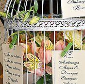 Свадебный салон ручной работы. Ярмарка Мастеров - ручная работа План рассадки гостей. Handmade.