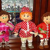 Куклы и игрушки ручной работы. Ярмарка Мастеров - ручная работа куклы из капрона -домовой и домовушка. Handmade.
