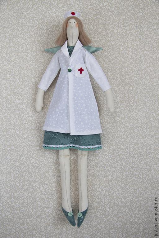 Куклы Тильды ручной работы. Ярмарка Мастеров - ручная работа. Купить Тильда Доктор. Handmade. Голубой, ангел, кукла врач