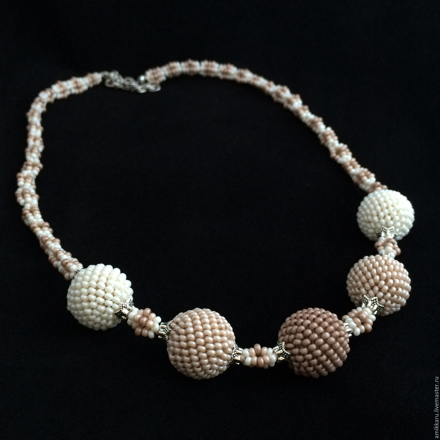 Beaded necklace 'Cappuccino', Necklace, Kireevsk,  Фото №1