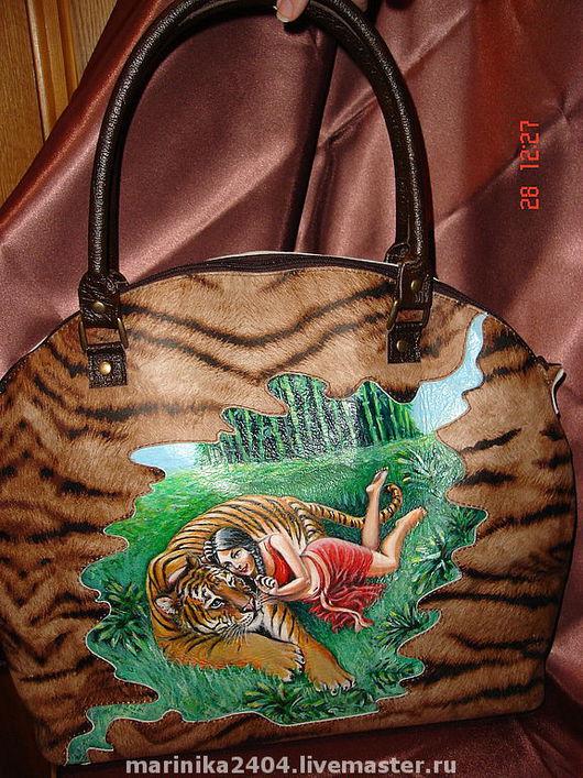 """Женские сумки ручной работы. Ярмарка Мастеров - ручная работа. Купить сумка """"Тигрица"""". Handmade. Женская сумка, оригинальная сумка"""