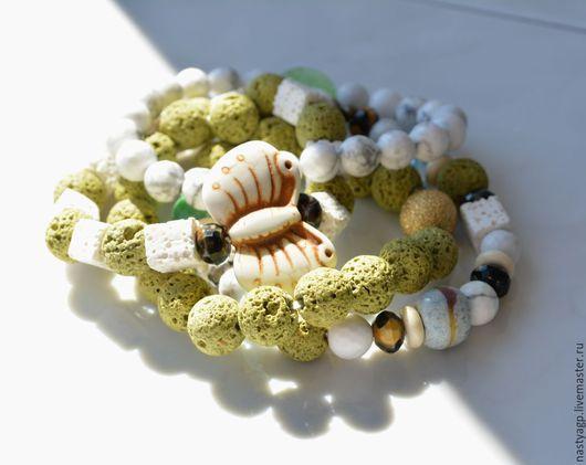браслет сет браслетов женские браслеты купить браслеты зеленые браслеты подарок бижутерия натуральные камни бабочка
