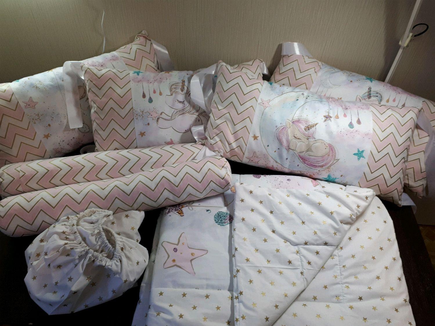 Постельное белье и бортики в кроватку, Бортики в кроватку, Тула,  Фото №1