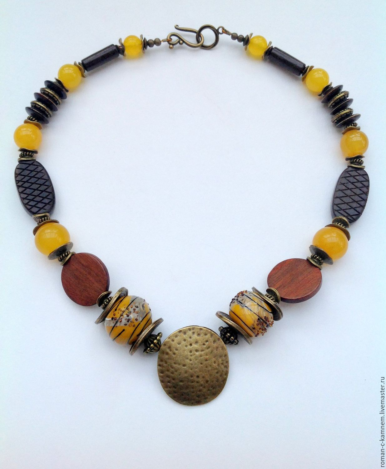 Necklaces, ethnic beads made from natural materials in African style.An original gift for extraordinary, stylish women and girls.
