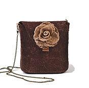 """Сумки и аксессуары ручной работы. Ярмарка Мастеров - ручная работа """"Роза Милен"""" маленькая дамская сумочка для мелочей. Handmade."""