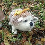 Куклы и игрушки ручной работы. Ярмарка Мастеров - ручная работа валяная игрушка ежик пыхтя. Handmade.