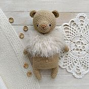 Куклы и игрушки handmade. Livemaster - original item Bear crocheted in a beige blouse. Handmade.