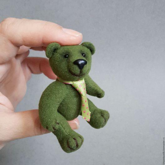 Мишки Тедди ручной работы. Ярмарка Мастеров - ручная работа. Купить Паша. Handmade. Тёмно-зелёный, ручная работа, бархат