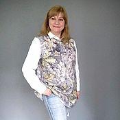 Одежда handmade. Livemaster - original item Vests: thin vest made of wool Leaves in silver. Handmade.
