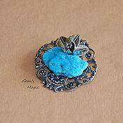 Украшения handmade. Livemaster - original item Brooch-pendant of turquoise