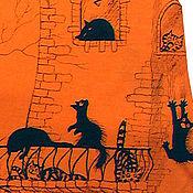 Одежда ручной работы. Ярмарка Мастеров - ручная работа Сарафан про котов. Handmade.