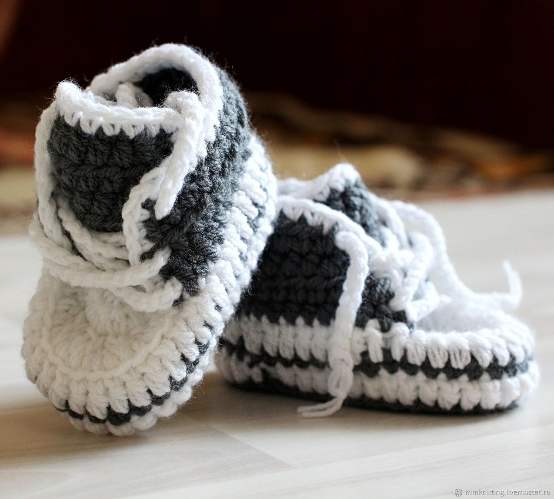 Пинетки кеды вязаные для малышей – купить в интернет ...