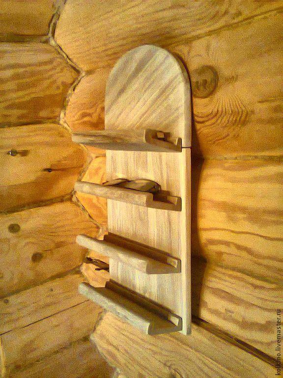 Банные полки из дерева своими руками