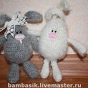 Куклы и игрушки ручной работы. Ярмарка Мастеров - ручная работа Зайчатки Снежинка и Снежок. Handmade.