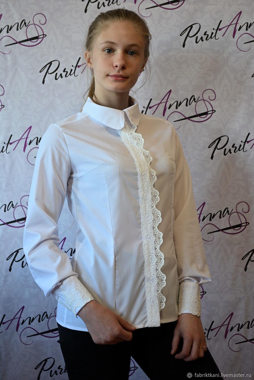 64eb737dca2 Blouses handmade. Livemaster - handmade. Buy Blouse-shirt with lace.Shirt  ...