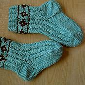 Аксессуары ручной работы. Ярмарка Мастеров - ручная работа Носки теплые с косами, носки для дома. Handmade.