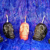 """Ритуальная свеча ручной работы. Ярмарка Мастеров - ручная работа Свеча малая """"Череп"""" восковая. Handmade."""