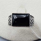 Украшения handmade. Livemaster - original item Silver ring with black onyx 13h9 mm. Handmade.