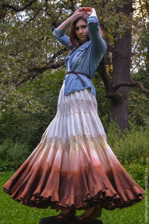 """Юбки ручной работы. Ярмарка Мастеров - ручная работа. Купить Ярусная юбка """"Орлиное перо"""". Handmade. Ярусная юбка"""