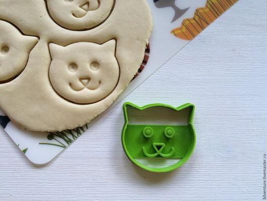 Кухня ручной работы. Ярмарка Мастеров - ручная работа. Купить Форма для печенья Кошка. Handmade. Разноцветный, формочка для печенья