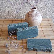 Косметика ручной работы. Ярмарка Мастеров - ручная работа Мыло с нуля с голубой глиной. Handmade.