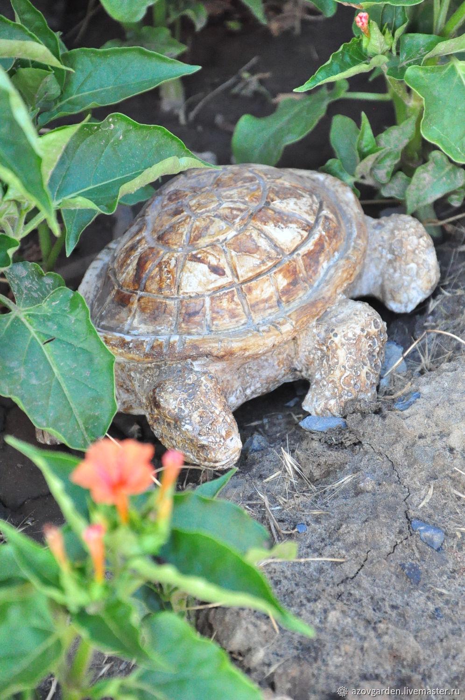 Garden figurine Turtle in the style of Provence concrete, Garden figures, Azov,  Фото №1