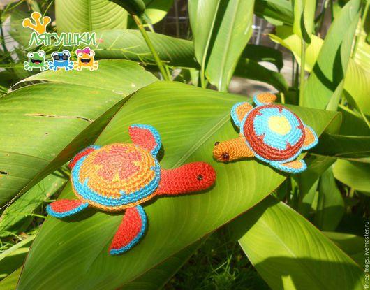 Игрушки животные, ручной работы. Ярмарка Мастеров - ручная работа. Купить Сейшельская черепашка. Handmade. Черепаха, морские обитатели